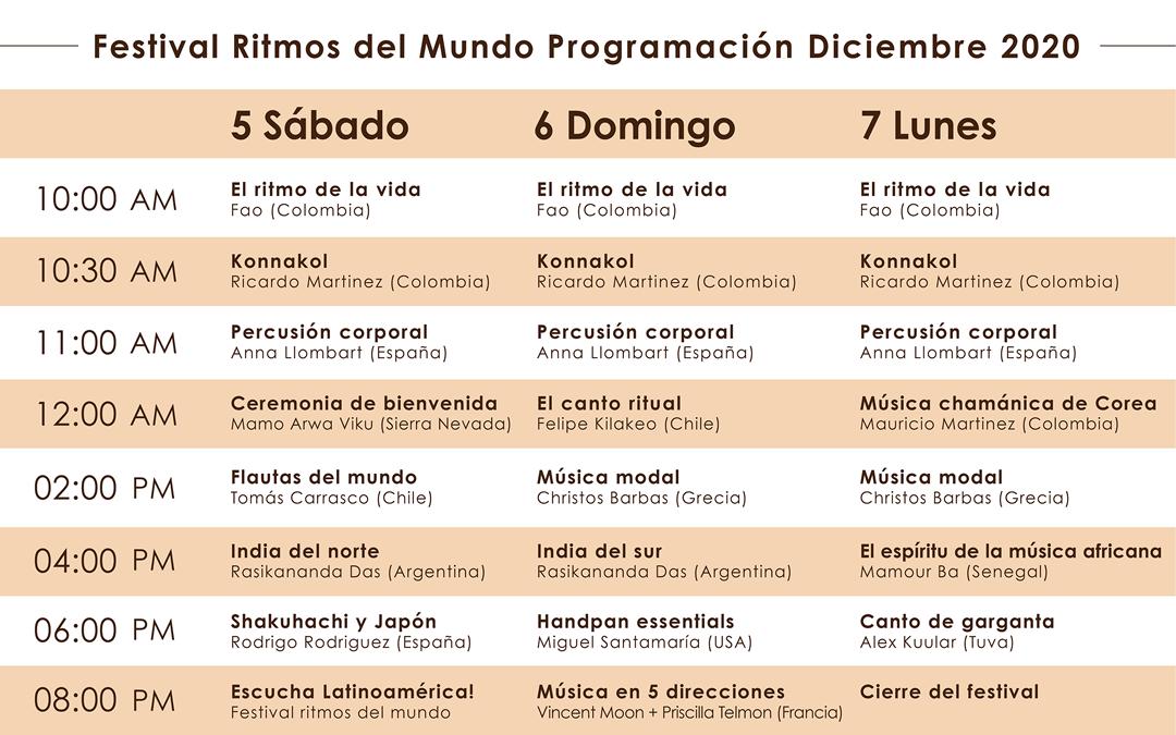 Programación Festival 2020